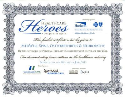 Healthcare Heros Certificate