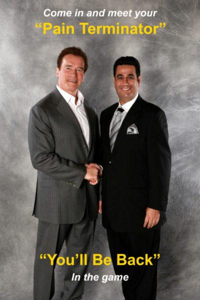 Dr. Maz and Arnold Schwarzenegger
