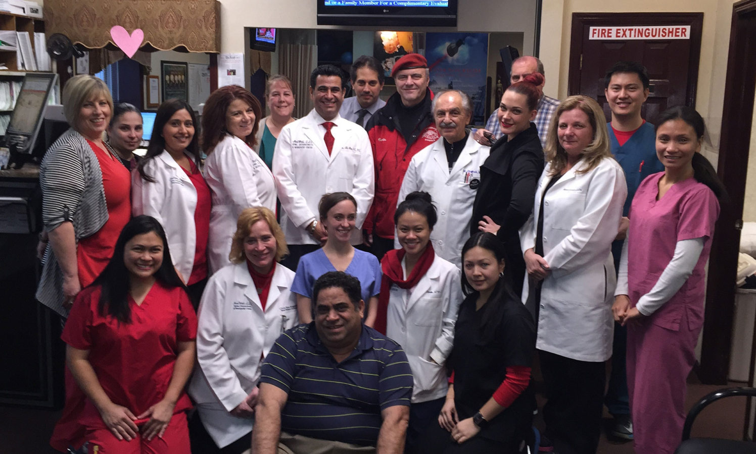 The MedWell Staff and Curtis Sliwa, CEO and founder of Guardian Angels